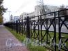 Ограда проезжей части Большого проспекта В.О. Фото октябрь 2009 г.