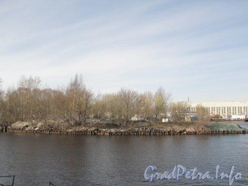 Вид на Серный остров с Васильевского острова. Фото апрель 2012 года.