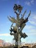 Памятный знак А. Нобелю на Петроградской набережной в створе Пинского переулка. Фото август 2009 г.