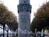 Памятник 300-летию Российского флота на Петровской набережной. Фото октябрь 2010 г.