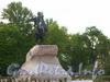 Памятник Петру I («Медный всадник») на Сенатской площади. Фото июнь 2004 г.