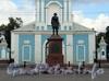 Памятник Петру I на Малом Сампсониевском проспекте напротив Сампсониевского собора. Фото сентябрь 2011 г.