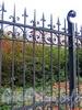Фрагмент ограды парка Лесотехнической академии. Фото октябрь 2010 г.