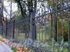 Ограда парка Лесотехнической академии. Фото октябрь 2010 г.