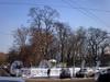 Введенский сад. Вид с улицы Введенского канала. Фото февраль 2010 г.