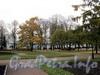 Вид на Смольный собор и монастырь из сада Смольного. Фото октябрь 2010 г.