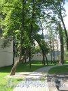 Сквер имени Андрея Петрова. Вид с Каменноостровского пр. Фото 7 июля 2012 г.