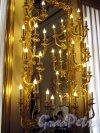 г. Пушкин, Садовая ул, дом 9. Большой Екатерининский дворец. Белая Парадная столовая. Канделябр. Фото май 2012 г.