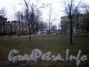 Сквер на проспекте Обуховской Обороны между переулком Ногина и улицей Ольминского. Фото апрель 2009 г.