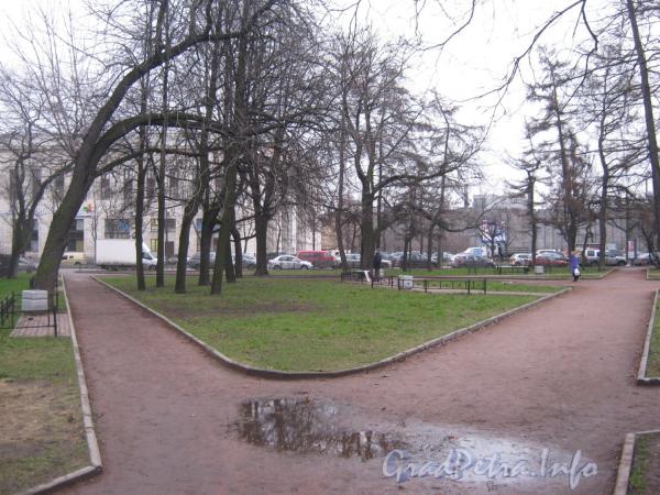 Московский сад. Вид от Черниговской улицы в сторону Лиговского проспекта.