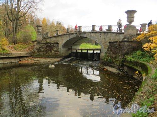 Государственный музей-заповедник «Павловск». Висконтиев мост. Фото 13 октября 2013 г.