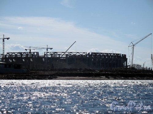 Газпром Арена со стороны Стрелки Елагина острова. Фото май 2012 г.