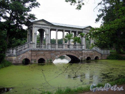 Екатерининский парк (г. Пушкин). Мраморный (Палладиев) мост. Фото август 2005 г.