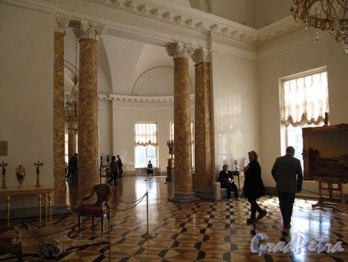 Александровский Дворец (Пушкин). Полукруглый зал. Интерьер. Фото май 2012 г.