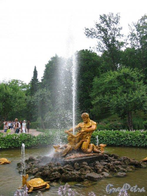 """Нижний парк (Петергоф). Фонтан """"Оранжерейный"""". Фото июнь 2005 г."""