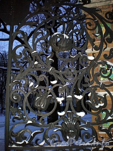 Решетка ворот Михайловского сада. Фото февраль 2009 г.