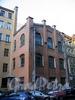 Волынский пер., д. 2 (правая часть). Здание бывшей типографии А. А. Суворина. Фасад здания. Фото октябрь 2009 г.