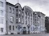 Басков пер., д. 5. Доходный дом А. И. Ерошенко. Фасад здания. Фото 2001 г. (из книги «Историческая застройка Санкт-Петербурга»)