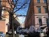 Перспектива Шведского переулка от Большой Конюшенной улицы в сторону Малой Конюшенной улицы. Фото март 2010 г.