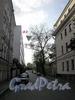 Перспектива Казарменного переулка от Петроградской набережной в сторону улицы Чапаева.