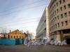 Перспектива Казарменного переулка от улицы Чапаева в сторону Петроградской набережной. Фото апрель 2010 г.