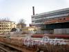 Казарменный пер., д. 1-3. Комплекс построек Гренадерского полка. Площадка позади строений. Фото апрель 2010 г.