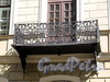 Мелитопольский пер., д. 2. Решетка балкона. Фото май 2010 г.