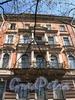 Мелитопольский пер., д. 4. Доходный дом Г.С. Войницкого. Фрагмент фасада. Фото май 2010 г.