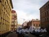 Перспектива Гродненского переулка от улицы Восстания в сторону улицы Радищева. Фото апрель 2010 г.