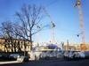 Виленский пер., д. 12. Строительство «Парадного квартала». Вид с улицы Радищева. Фото апрель 2010 г.