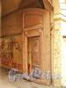 Академический пер., д. 14. Створка деревянных ворот с калиткой. Фото август 2010 г.