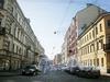 Перспектива Саперного переулка от улицы Радищева в сторону улицы Маяковского. Фото апрель 2010 г.