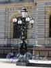 Соляной пер., д. 15. Бронзовый фонарь-торшер перед входом в музей. Фото август 2010 г.