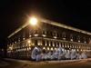 Пер. Антоненко, д. 2 / наб. реки Мойки, д. 66. Ночная подсветка фасадов. Фото январь 2011 г.
