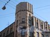 Большой Казачий переулок, дом 4. Часть здания и башня. Фото март 2012 г.
