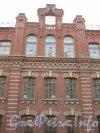 Лиговский пер., дом 3. Фрагмент фасада здания после реставрации. Фото ноябрь 2011 года.