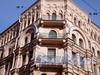 Угловой пер. д. 1/Московский пр., д. 61, фрагмент фасада здания. Фото 2008 г.