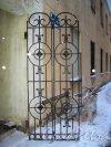 Иностранный пер., дом 6. Решетка проходной бизнес центра «Бизнес Линкжилпроект». Фото январь 2013 г.