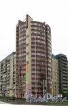 Клочков пер., дом 10. Общий вид жилого дома от ледового моста. Фото 25 мая 2013 г.