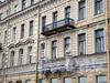 Волховский пер., д. 2. Фрагмент фасада здания. Октябрь 2008 г.