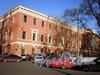 Лазаретный пер., д. 2. Главное здание госпиталя Семеновского полка. Фрагмент фасада. Фото ноябрь 2008 г.