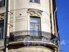 Москательный пер., д. 2 / наб. канала Грибоедова, д. 34. Доходный дом М.А.Стенбок (акционерного общества «Треугольник»). Угловой балкон. Фото август 2009 г.
