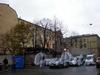 Работы по разборке шахтного копера станции «Театральная» Петербургского метрополитена на участке дома 2 по Фонарному переулку. Фото октябрь 2008 г.