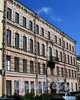 Столярный пер., д. 6. Доходный дом Ц.А.Кавоса. Общежитие №3 Университета путей сообщения. Фасад здания. Фото июль 2009 г.