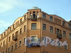 Столярный пер., д. 18 / наб. канала Грибоедова, д. 69. Доходный дом И.С.Никитина. Фрагмент фасада. Фото август 2009 г.