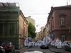 Перспектива Друскеникского переулка от улицы Чайковского в сторону Фурштатской улицы. Фото сентябрь 2009 г.