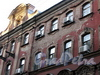 Замятин пер., д. 4 / Галерная ул., д. 20 (правая часть). Доходный дом И.О. Утина. Фрагмент фасада по переулку. Фото июль 2009 г.