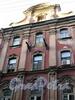 Замятин пер., д. 4. Доходный дом И.О. Утина. Фрагмент фасада с отсутствующим балконом. Фото июль 2009 г.