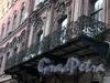 Замятин пер., д. 4. Доходный дом И.О. Утина. Решетка балкона. Фото июль 2009 г.