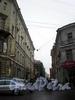Перспектива Графского переулка от Владимирского проспекта в сторону улицы Рубинштейна. Фото февраль 2009 г.